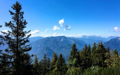 Blick vom Rauschberg in Ruhpolding Bayern - während unseres Aufstiegs