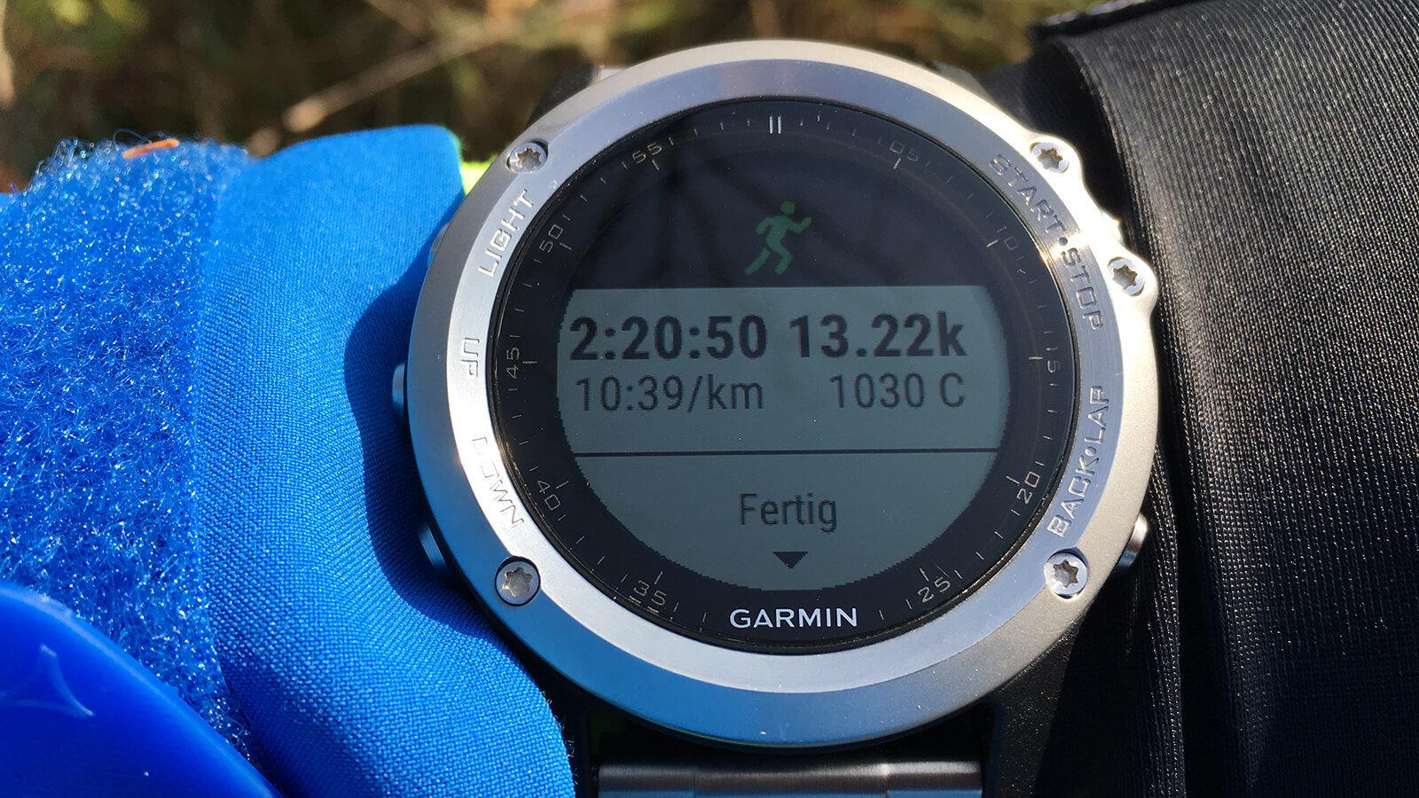 Garmin fēnix 3 - Aktivitäten App: Laufen