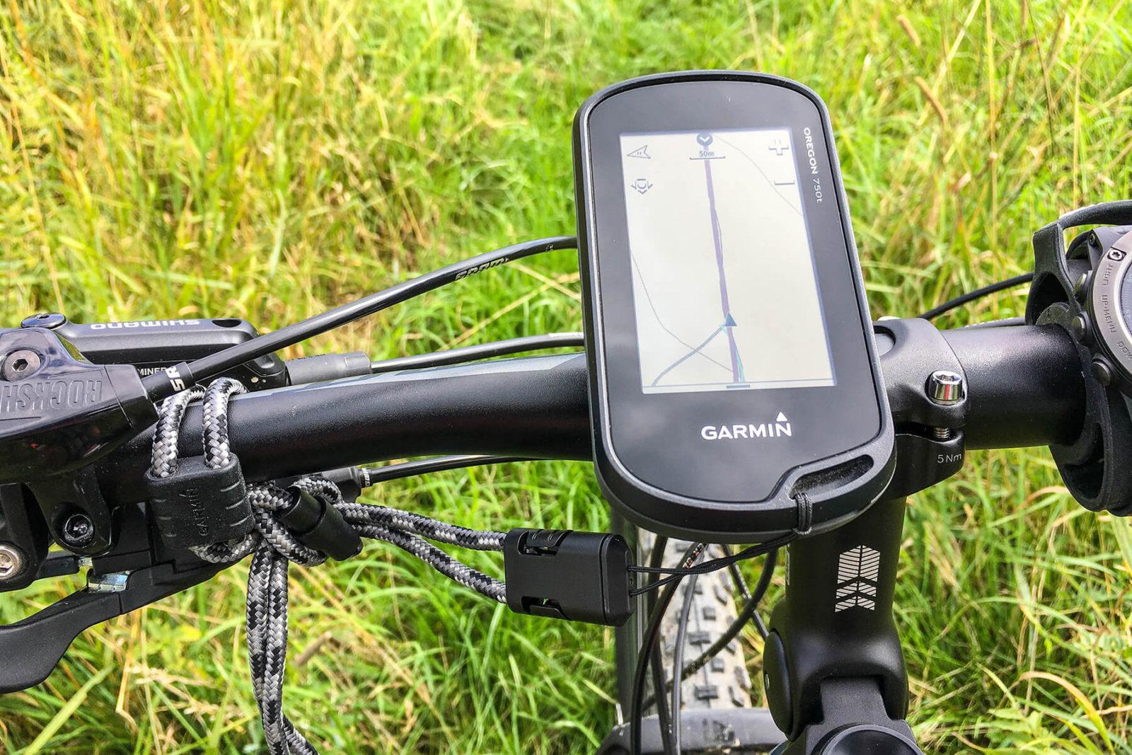 Garmin Oregon 750t Fahrradhalterung - Montage am Mountain Bike