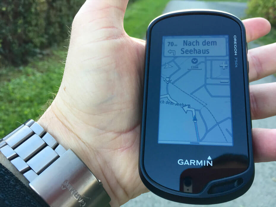 Garmin Oregon 750t und RoundTrip Routing - Start