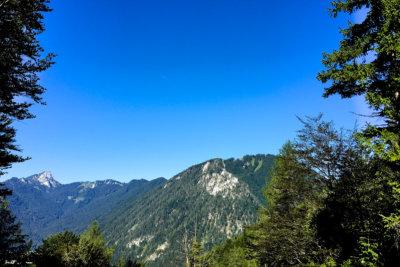 Bergwanderung auf Rauschberg in Ruhpolding Bayern - Ausblick während der Tour