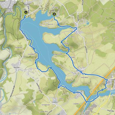 Wanderung um die Talsperre Pöhl - Tourenverlauf
